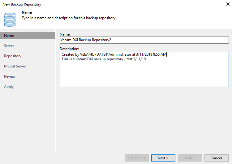 DXi9000 Veeam Installation
