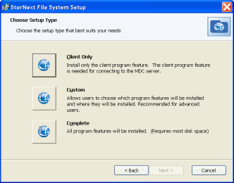Installing StorNext File System on Windows MDCs